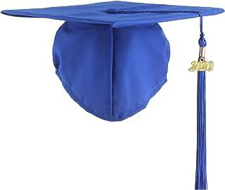 UIALECG Graduation Unisex Matte Adult Graduation Cap with Tassel 2020