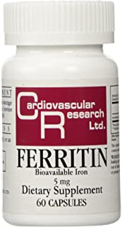 Ecological Formulas - Ferritin Bioavailable Iron 5 mg - 60 Caps