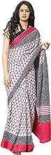 MORBANGADI Women Cotton Floral Pattern Saree with Blouse (SSH_0150_P)