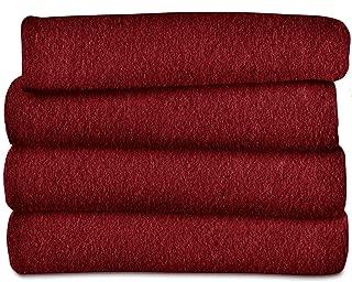 Sunbeam Heated Throw Blanket | Fleece, 3 Heat Settings, Garnet - TSF8US-R310-31A00