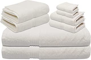 8 Pieces Towel Home Bath Set | 100% Cotton | Quality Bath Towel up to GSM 600 | Soft & Luxury | Dry & Absorbent | 5 Stars ...