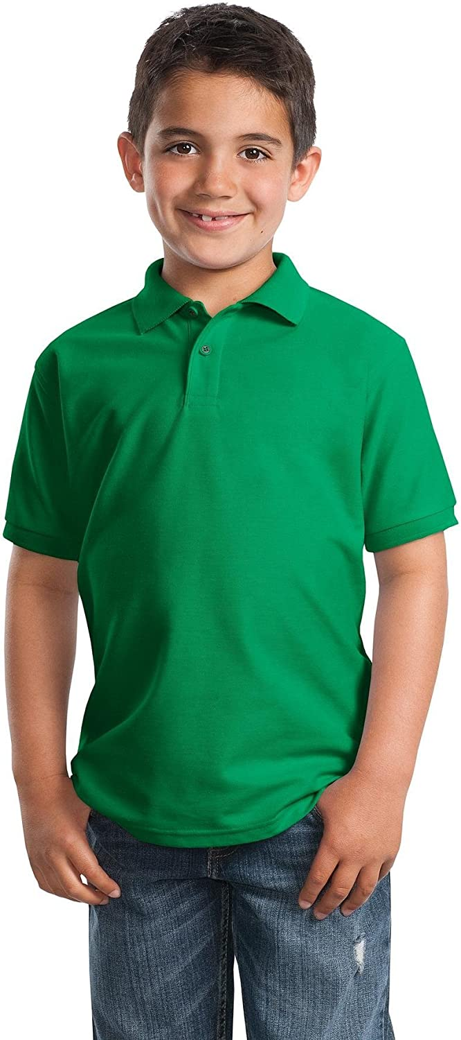 Port Authority Youth Silk Touch Polo. Y500 Kelly Green XS