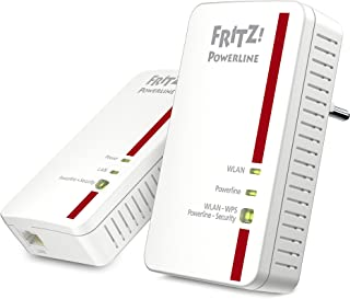 AVM Fritz Powerline 1240E/1000E WLAN Set (1,200 MBit/s, WLAN Access Point, ideal für Media Streaming oder NAS Anbindungen, deutschsprachige Version, weiß)