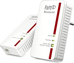 AVM FRITZ!Powerline 1240E/1000E WLAN Set (1,200 MBit/s, WLAN-Access Point, ideal für Media-Streaming oder NAS-Anbindungen,...