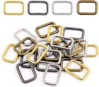 Swpeet 60Pcs Heavy Duty 1 Inch / 25mm Metal Rectangle Ring, Webbing Belts Buckle Metal Rings for for Belt Bags DIY Accesso...