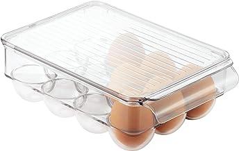 InterDesign Fridge/Freeze Binz Egg Holder, Small (Holds 12 Eggs), Clear