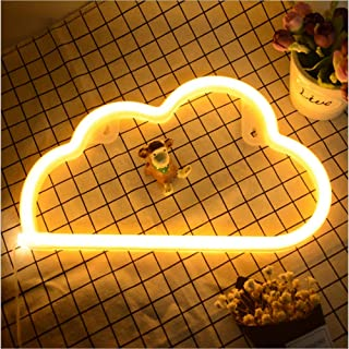 Hopolon Cloud Neon Signs, LED Neon Light for Party Supplies, Girls Room Decoration Accessory, Table Decoration, Children Kids Gifts (Warm White Cloud)