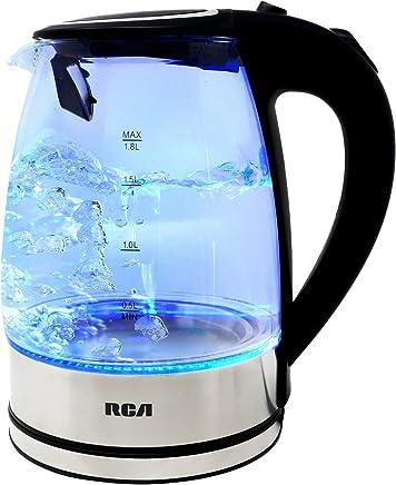 RCA Tetera eléctrica de vidrio con luz led 1.8 Lts