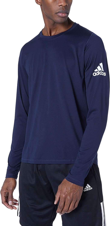 adidas Mens Freelift Sport Badge of Sport Long sleeve Tee