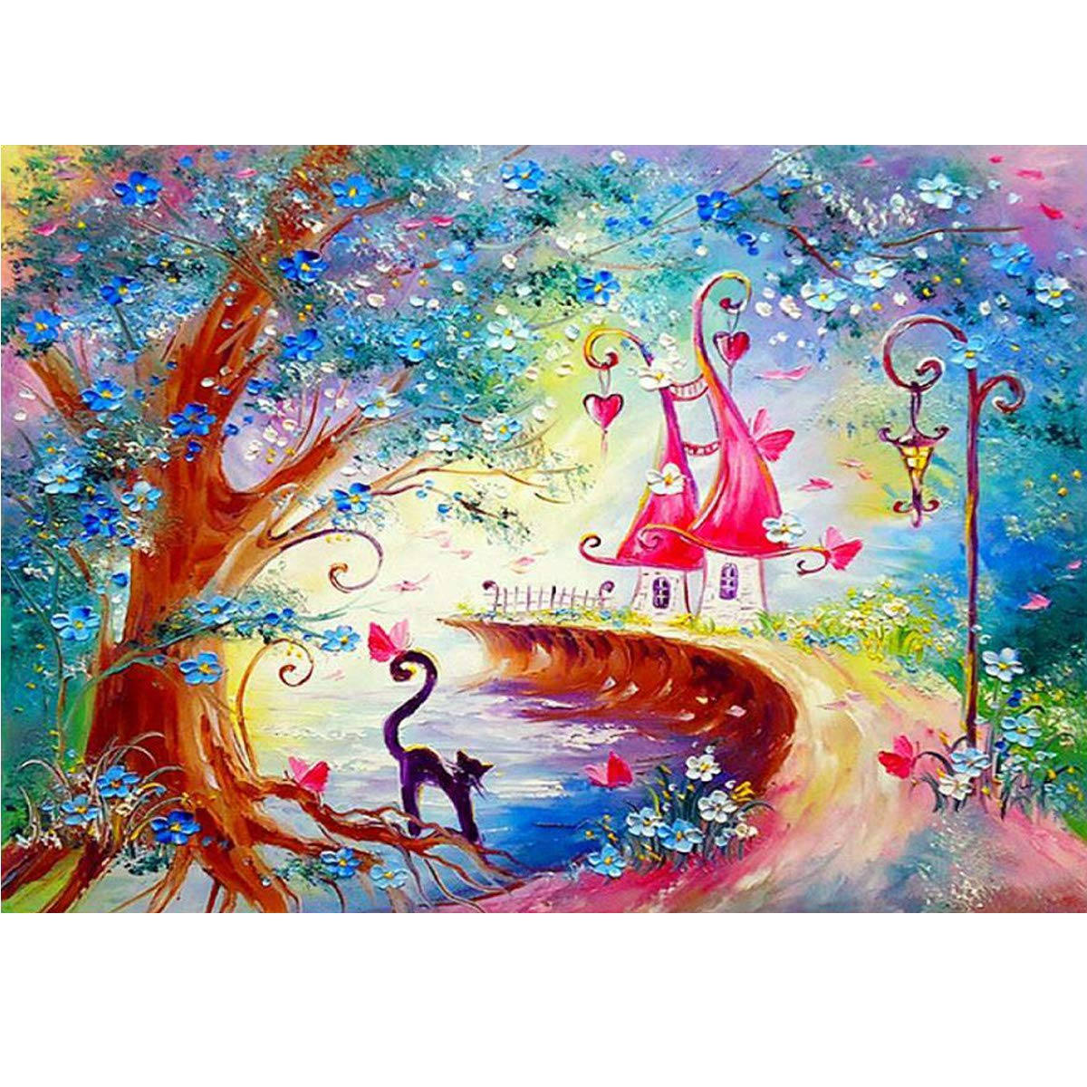 Fairy-tale Horses; Beads embroidery kit; contemporary embroidery; gift idea; needlepoint design; decor; seed beads Preciosa;