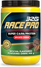 32Gi Race Pro Sports Drink Powder Mix of Super Carbohydrates and Plant Based Protein Immediate and Sustained Energy Endurance Drink Reduce Fatigue – Vegan Natural Caffeine Mocha Flavour-900 grams Estimated Price : £ 33,00