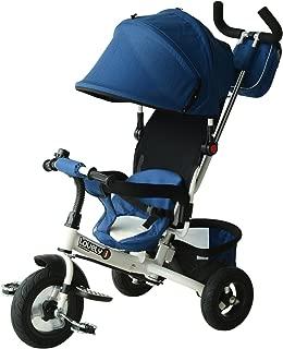 Qaba 2-in-1 Lightweight Steel Adjustable Convertible Baby Tricycle Stroller