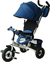 Qaba 2-in-1 Lightweight Steel Adjustable Convertible Tricycle Stroller