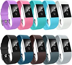AIUNIT Compatible with Charge 2 Bands, Charge 2 Accessories Replacement Small/Large Wristbands Bracelet Strap Women Men Boys Girls