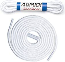 round shoe laces white