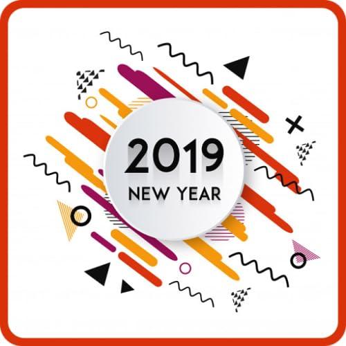Bonne année souhaite des cartes de voeux 2019