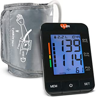 IHeartBPM Blood Pressure Monitor – Automatic BP Monitor with Blood Pressure Cuff & Heart Rate Monitor for Ages 12 and Up – Accurate Digital Blood Pressure Monitor Tracks 2 Users & Records for 90 Days