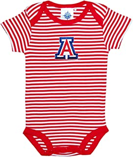 University of Arizona Wildcats Striped Newborn Baby Bodysuit