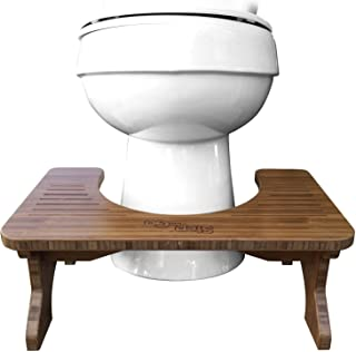 Step and Go Bamboo Squatting Toilet Stool for Potty Aid (7