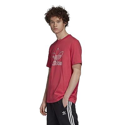 adidas Originals Outline Trefoil Tee (Power Pink) Men
