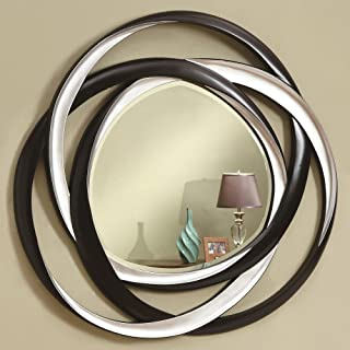 Coaster Home Furnishings Round Wall Mirror Black and Silver
