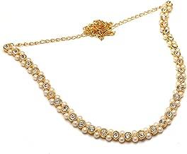 Saraa Dazzling Golden & White Pearl Kamarband For Women/Girls