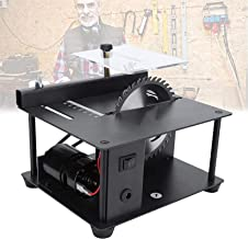 Sierra de mesa portátil de sobremesa, Mini mesa de mesa Hobby, sierras de mesa para carpintería pulida Taladro de precisión potente de corte profundo, sierra de mesa para la escultura de plástico de m