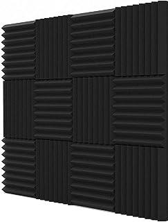 Acoustic Panels Studio Foam Sound Proof Panels Nosie Dampening Foam Studio Music Equipment Acoustical Treatments Foam 12 P...