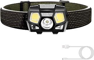 充電式ヘッドライト LEDセンサー機能 ヘッドランプ 夜釣り アウトドア作業用 防水防災  超軽量 改良版
