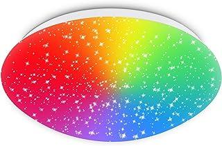 Lámpara de techo LED RGB compatible con Alexa, Google Home, APP, WiFi 18 W 1550 lm, regulable, color blanco cielo estrellado hasta blanco cálido, 2700 – 6500 K, para habitación infantil, dormitorio
