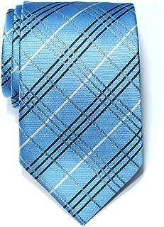 Retreez Tartan Plaid Check Styles Woven Microfiber Men's Tie Necktie - 10 Colors