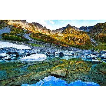 絵画風 壁紙ポスター (はがせるシール式) -地球の撮り方- 日本一の紅葉、涸沢カールの絶景と奥穂高岳登山 日本の絶景 キャラクロ C-ZJP-065W2 (ワイド版 603mm×376mm) 建築用壁紙+耐候性塗料
