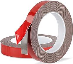 Faminess Dubbelzijdige Tape Heavy Duty Acryl Foam Montage Tape voor Auto, LED Strip Lights, Home Decor, Office Decor 20mm ...