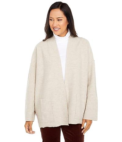 Eileen Fisher Lightweight Boiled Wool High Collar Jacket (Maple Oat) Women