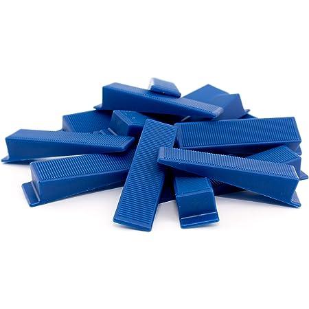 Lot de 50 Cales de Montage en Plastique Porte de Fenêtre Bleu Gradient de 1-15mm