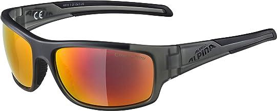 ALPINA Unisex - Volwassenen, TESTIDO sportbril, antraciet-zwart mat, één maat