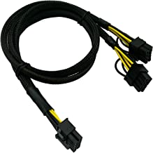 COMeap 10 Pin to Dual PCI-E 8 Pin(6+2) Power Supply Adapter Cable for HP DL580 DL585 DL980 G7 Server 25-in(63.5cm)