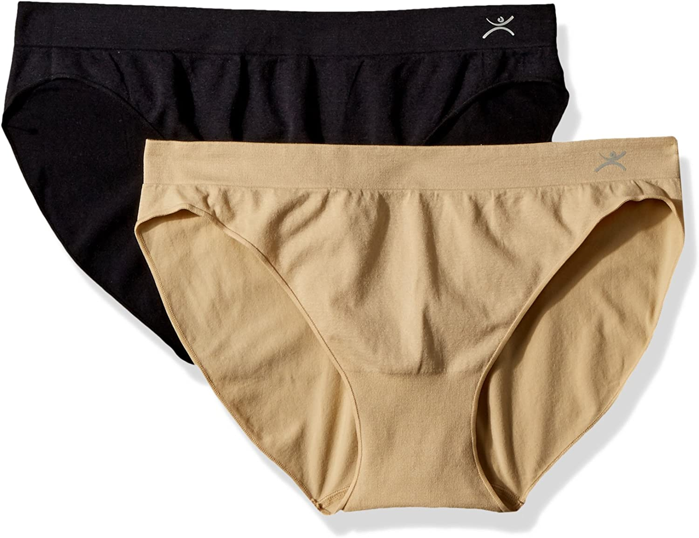 Terramar womens Seamless Bikini 2-pack