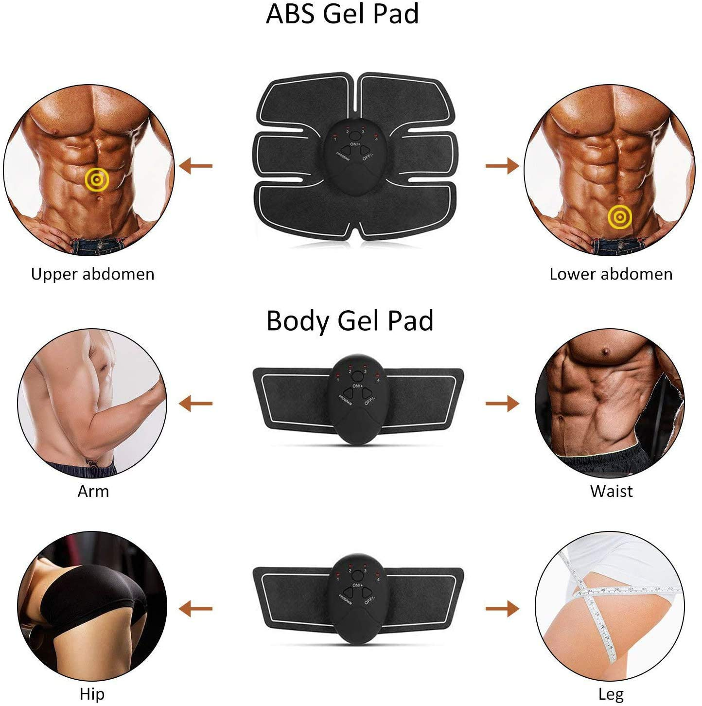 SJNDY Abs Stimulating Belt Muscle Sculpting at Home Abdominal ...