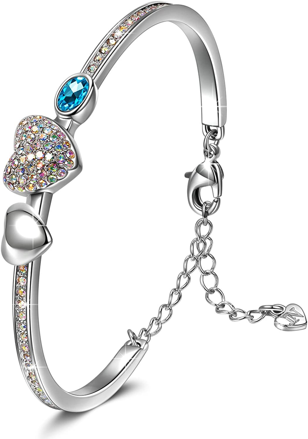J.NINA Charming Bracelet for Women Four-leaf Heart OFFicial mail order Double Spring new work one after another Round