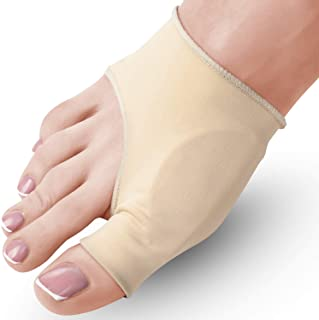 Bunion Corrector and Bunion Relief Sleeve - Medium (W 7-9.5, M 6-8.5), 2-Pack, Gel Pad - Hallux Valgus and Shoe Friction P...