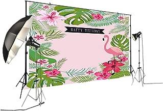 FiVan 6.5x5ft Happy Birthday Flamingo Photography Backdrops Photo Background Party Wall Decoration Backdrop W-294