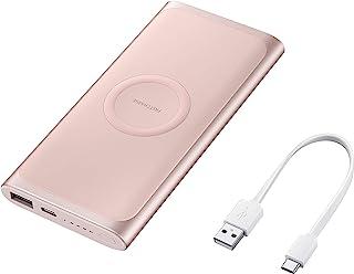 Bateria Externa carga rápida Wireless 10.000mAh, Samsung, Rosé