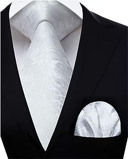 HISDERN extra lungo cravatta a righe fazzoletto uomini cravatta /& fazzoletto set