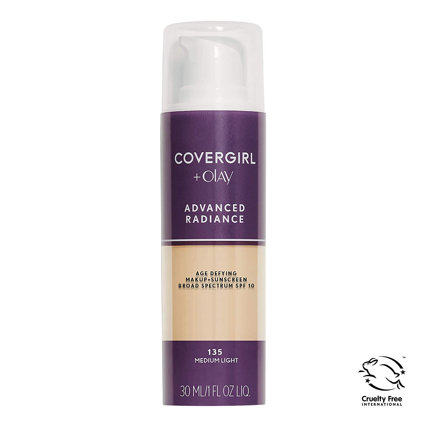 極めて重要なお肉代名詞COVERGIRL ADVANCED RADIANCE AGE-DEFYING MAKEUP #135 MEDIUM LIGHT