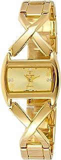 Spectrum Women's Gold Dial Brass Plated Band Watch - 22269L-1