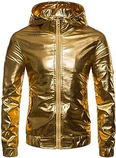 (ラボーグ) La Vogue ライダースジャケット 合皮 ジャケット ジャンパー ブルゾン メンズ フード付き 長袖 コート アウター バイク ダンス 保温 防寒
