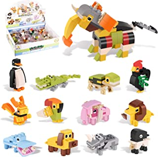 Party Favor for kids,Mini Building Blocks Animal Toys Sets 12 Packs,Creative Stem Toys for Goodie Bags, Birthday Gifts, Carnival Prizes