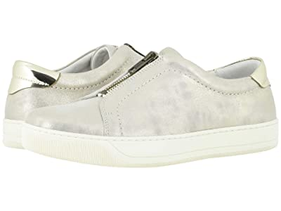 Johnston & Murphy Emma (Ivory Metallic Suede) Women