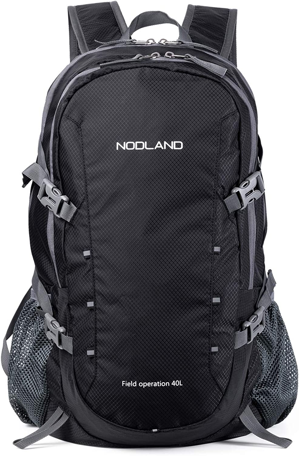 NODLAND 40L Lightweight Hiking Backpack, Packable Waterproof Travel Daypack for Men and Women
